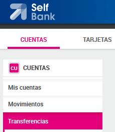 menu transferencias